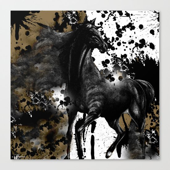 HORSE AND THUNDER Canvas Print