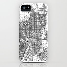Kyoto Map White iPhone Case