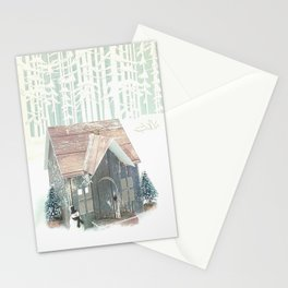 Snow House 3 Stationery Cards