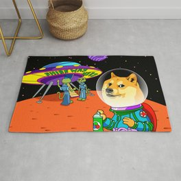 Shibe Doge Astro and the Aliens Memes Cats Cartoon Rug