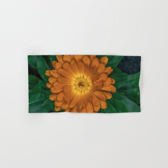 Orange Flower Hand & Bath Towel