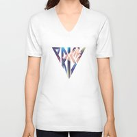 prism V-neck T-shirts featuring PRISM by TheDraw