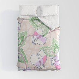 Cyclamen Spring Flowers Seamless Print Comforters