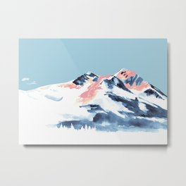 Pink Mountain Metal Print