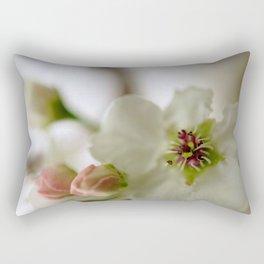 Pear Tree Flower Rectangular Pillow
