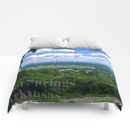 Scenic overlook of Hot Springs Arkansas Comforters