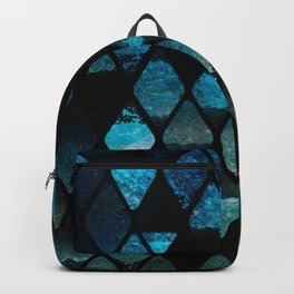 Abstract rhombuses - mermaid version Backpack