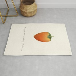 Persimmon (Diospyros) (1887) by William Henry Prestele Rug