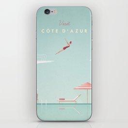 Vintage Côte d'Azur Travel Poster iPhone Skin