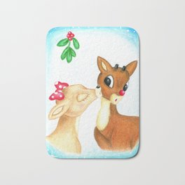 Rudolph the Red Nosed Reindeer & Clarice First Christmas Snow Bath Mat