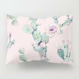 Cactus Rose Pattern on Pink Pillow Sham