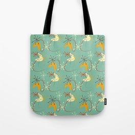 Atomic Boomerang Mid Century Modern Tote Bag
