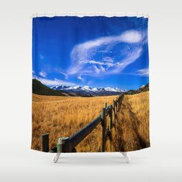 Distant Bighorns - Mountain Scenery in Northern Wyoming Shower Curtain