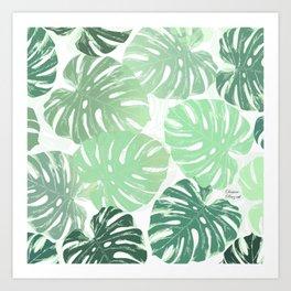 Green romance Art Print