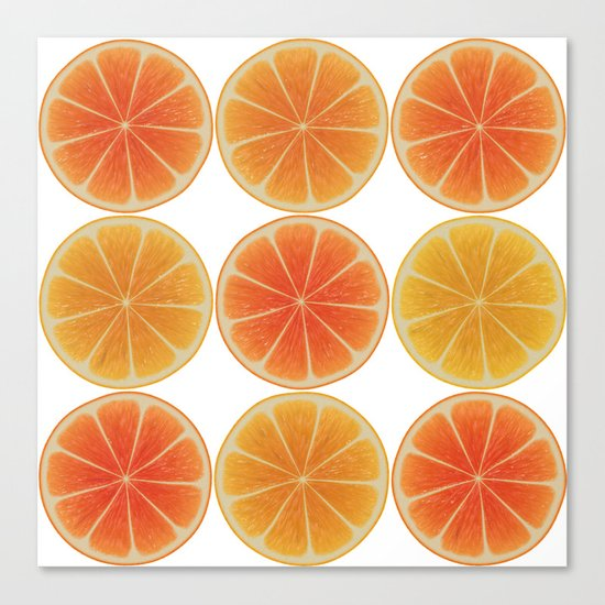 Oranges oranges Canvas Print
