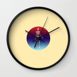 Retro Skeleton Wall Clock