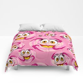 SoccerComics Pink Comforters