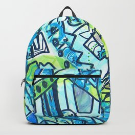 Spring time geometric abstract drawing Backpack