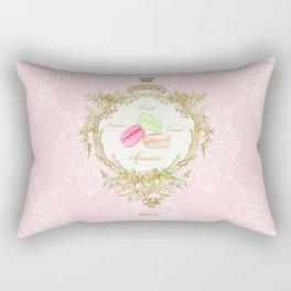 French Patisserie Macarons Rectangular Pillow