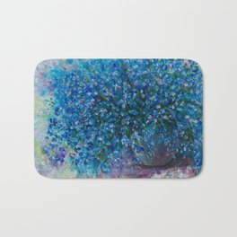 Bouquet Of Forget Me Nots by Lena Owens Bath Mat