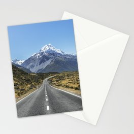 Road To Mountain New Zealand Nature Landscape Stationery Cards