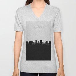 City Skylines: El Paso Unisex V-Neck
