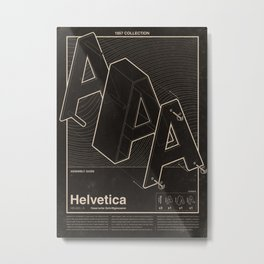 Helvetica - assembly guide Metal Print