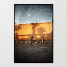 vélocipède sunset Canvas Print