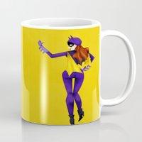 batgirl Mugs featuring Batgirl by genie espinosa