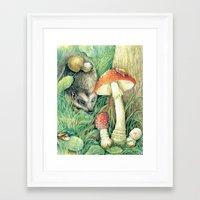 mushrooms Framed Art Prints featuring Mushrooms by Natalie Berman
