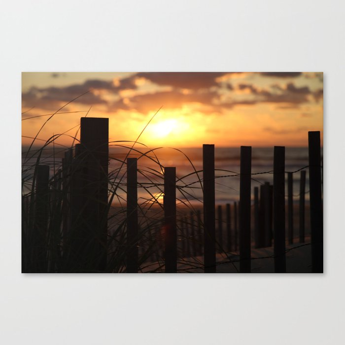 Sun dawning on the start of a special day. Canvas Print