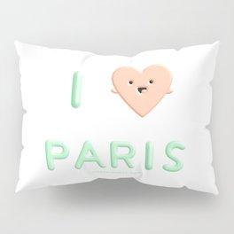 I Heart Paris I Love Paris Pillow Sham