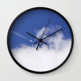Flying Airplane Wall Clock