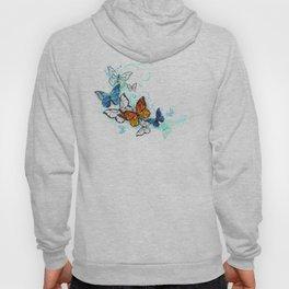 Artistic Morpho and Monarchs Hoody