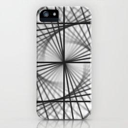 Black and white visualization, Mandala kaleidoscope. iPhone Case