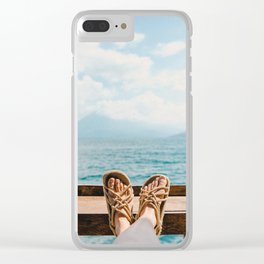 Carefree days Clear iPhone Case