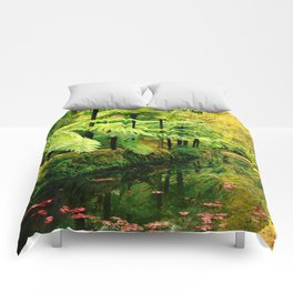 Autumn in the park Comforters