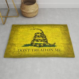 Gadsden Dont Tread On Me Flag - Distressed Rug
