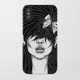 Girl With a Ribbon  iPhone Case