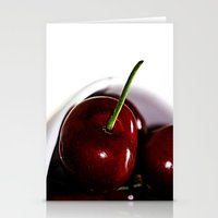 cherry Stationery Cards featuring Cherry by LoRo  Art & Pictures