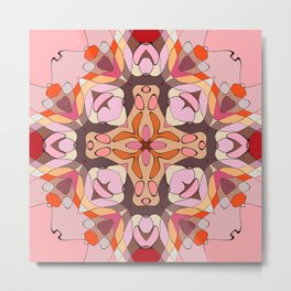 Pomegranate Patchwork Collection 4 Print Metal Print