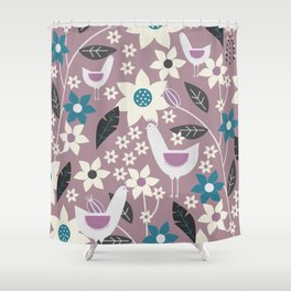 Rooster garden Shower Curtain