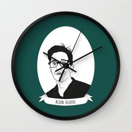 Alison Bechdel Illustrated Portrait Wall Clock