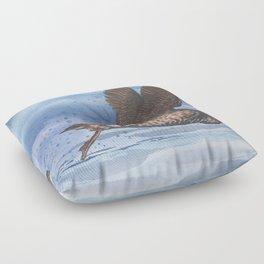 Marbled Murrelet take off Floor Pillow