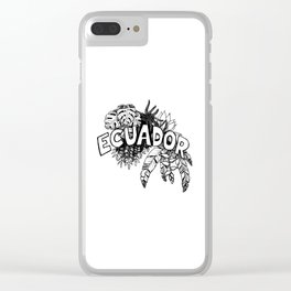 Ecuador planta Clear iPhone Case