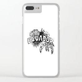 Ecuador planta Clear iPhone Case