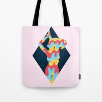 lucy Tote Bags featuring Lucy by Popsicle Illusion