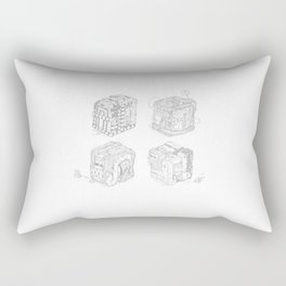 Boxed Mimes (No Color) Rectangular Pillow