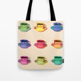Vintage Pop Art Tea Cup Style  Tote Bag