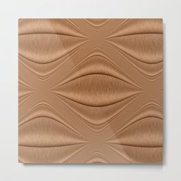 Contour Copper Metal Print